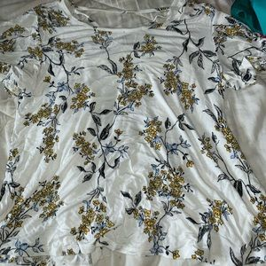maurices floral shirt